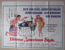 Divorce American Style, Orig UK Quad Poster, Dick Van Dyke, Debbie Reynolds, '67